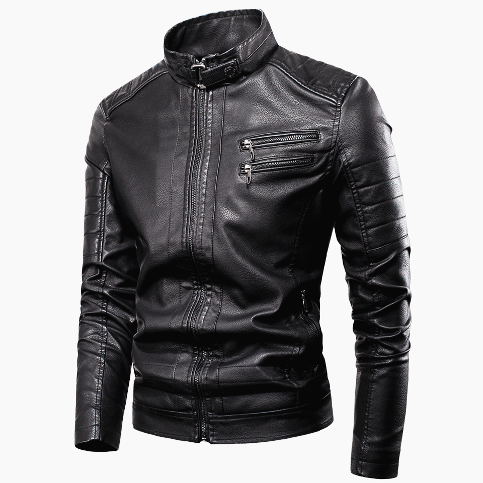 Men 2020 Spring New Casual Vintage Zipper Style Fleece Leather Jackets Coat Men Outwear Fashion Motor & Biker Leather Jacket Men