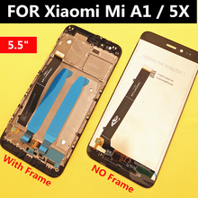 FOR Xiaomi MiA1 Mi A1 LCD Display+Touch Screen Digitizer Assembly Replacement Accessories For Xiaomi Mi A1 Mi5X Mi 5X lcd original used xiaomi mi a1 mia1 mi5x mi 5x m5x lcd display touch screen panel digitizer with frame assembly sensor replacement