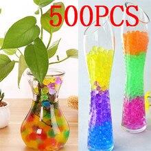 500Pcs multicolor Pearl Shaped Crystal Soil Water Beads Mud Grow Magic Jelly Balls Home Decor Aqua Wholesales