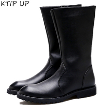 New Men Winter Boots Men Tall tube Zipper Leather Boots Safety Shoes Pointed Keep Warm Men Boots Fashion Autumn Winter Men Shoes new men autumn and winter leather boots men shoes zipper leather shoes breathable sneaker fashion boots men casual shoes