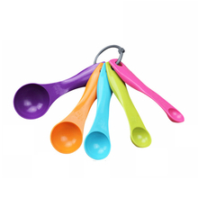 5 шт./компл. ABS Пластиковые мерные ложки красочные мерная ложка прочный сахарный торт ложка для выпечки кухонный измерительный инструмент Безразмерные;