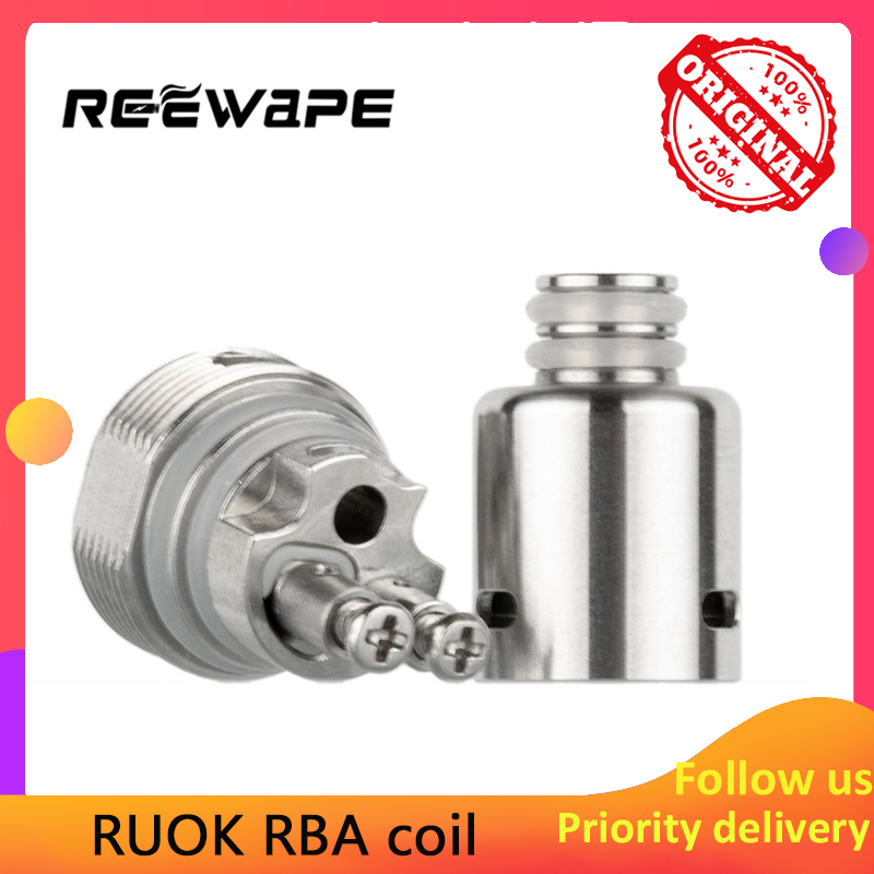 Original Reewape Ruok RBA Coil Head For Fetch Mini/Nikola Antares/Hotcig Marvel/Oukitel Mate/Oukitel Bison/Dovpo Peaks