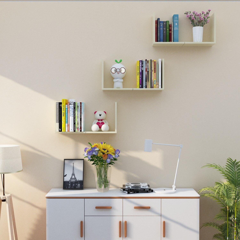 6PCS Hout DIY muur planken creatieve huishoudelijke planken voor wall opslag woondecoratie accessoires houten muur organizer - 3