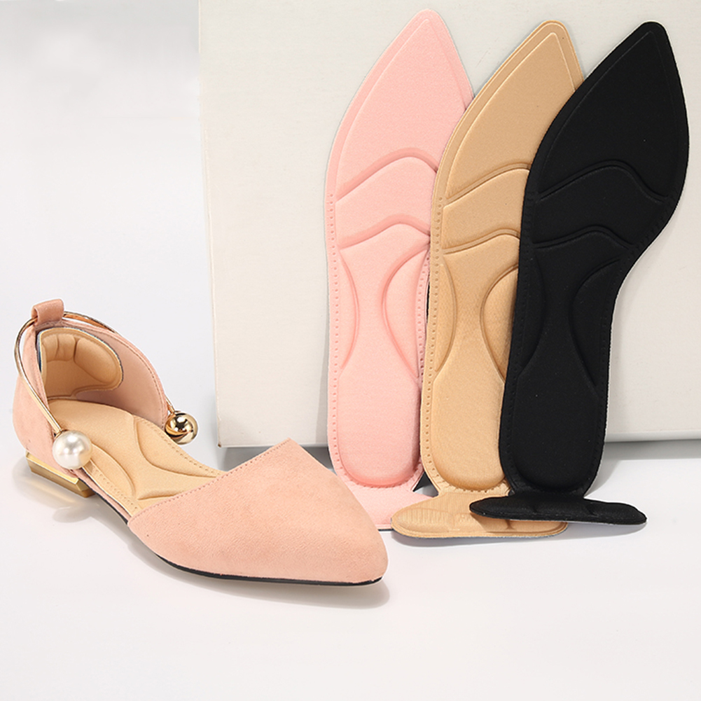 Women Insole Pad Breathable Anti-slip Inserts High Heel Insert Pad Foot Heel Protector Shoes Accessories Thickening Massage