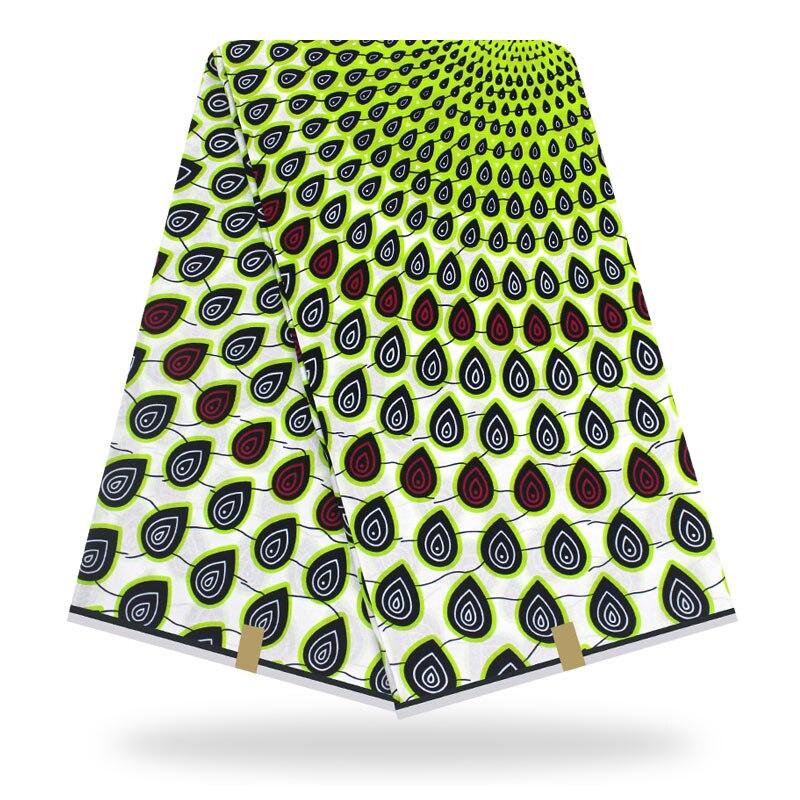 African Wax Fabric Print Cotton Wax Fabric Ankara Prints Fabric 100% Cotton High Quality Sewing Dress Material 6yards