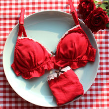 Japanese Sexy Lingerie for Small Chest Ultra Thin Bra and Panty Set for Women Underwear Intimates Wire Free Bra Thong Sets 2pcs french style women sexy bra and panty set lace bralette retro underwear ultra thin lingerie wire free bra thong set intimates
