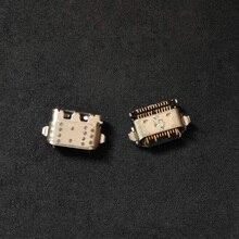 100 pçs/lote Carregador USB Conector Jack Tomada de Carga do Porto De Poder Feminino Plug Para Motorola Moto G6