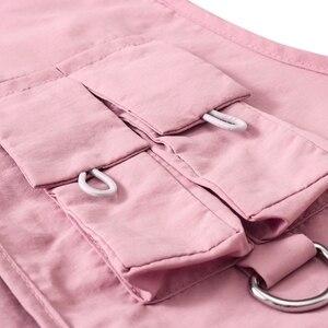 Image 5 - Gilet militaire à poches multiples, icône sombre, Cargo Hip Hop pour homme, Gilet sans manches, Gilet Core, Streetwear
