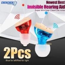 Mini Gehoorapparaat Onzichtbaar Oor Versterker Gratis Verzending Verstelbare Digitale Hoortoestellen Voor Dove Ouderen Oor Zorg