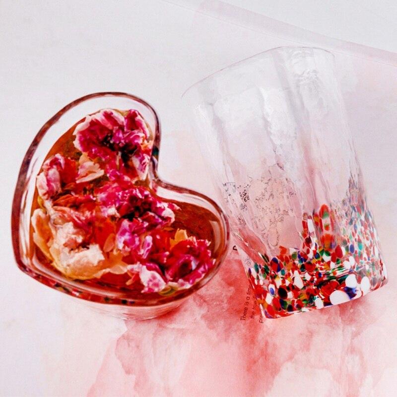 Transparante Koffie Cup Voor Drinken Beest Geschenken Muur Transparant Glas Thee Cup Hartvormige Voor Vriendin Kantoor Home Decor - 4