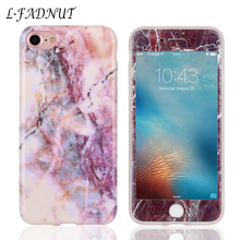 360 Full Body Marble Case For iPhone X Xr Xs Max Shockproof Bumper Phone Cover Screen Protector 7 8 6 6S Plus 5 5S SE