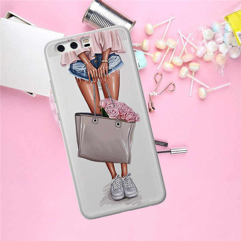 女 Huawei 社メイト 9 10 20 P8 P9 P10 P20 P30 1080p スマート Lite プラスプロ電話ケースカバー Coque 小箱 funda ファッションギフト高級