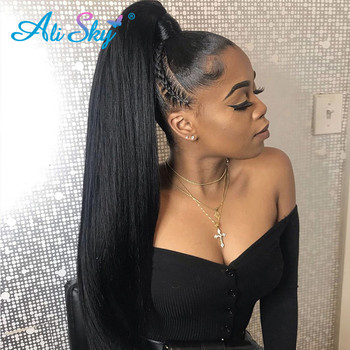 Alisky Hair Peruvian Straight Hair Bundles 100% Human Hair Weave Bundles Remy Hair Extensions 1/3/4 Pieces Hair Wefts Wholesale image