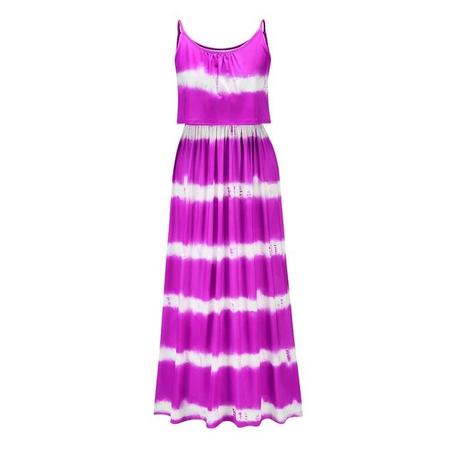 Madam clothing OWLPRINCESS  2020 Elegant and Comfortable New Tie-Dye Dungaree Dress