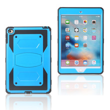 Applicable iPad MINI4 Protective Case Triple Protection Shell Holder-in-Apple Ta