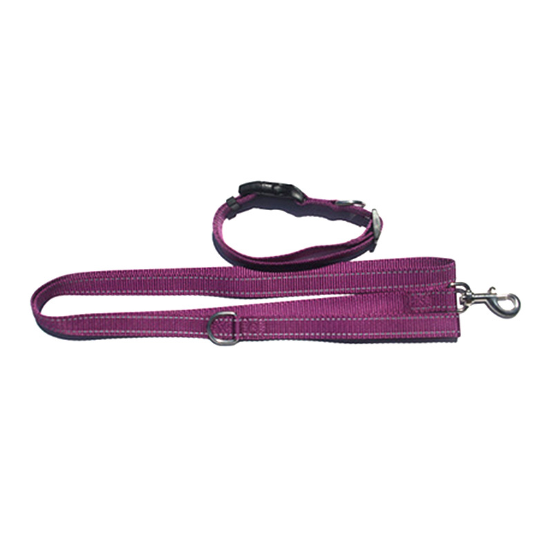 Pet Haulage Rope Package Traction Belt Neck Ring Two-Piece Set Reflective Yarn Nylon Dog Chain Alloy Drag Hook