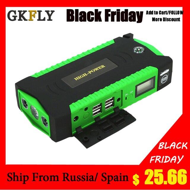 GKFLY Super puissance dispositif de démarrage 12V 600A voiture saut démarreur batterie externe chargeur de voiture pour voiture batterie Booster pour essence Diesel LED