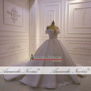Image 5 - Weg von der schulter riemen volle spitze perlen hochzeit kleid 2020 amanda novias