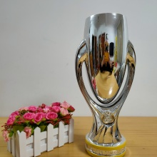 The  Super Cup Trophy For The Champions Trophy Cup 32 cm Height Award for the Champions And Nice Gift  for Soccer Souvenirs