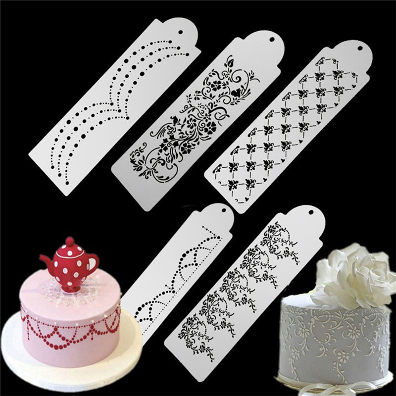VOGVIGO Hollow <font><b>Flower</b></font> Snowflake Spray <font><b>Cake</b></font> Mold Vintage Pattern <font><b>Cake</b></font> Surface <font><b>Cake</b></font> Stencil Spray Cookie Stencils <font><b>Decoration</b></font> image