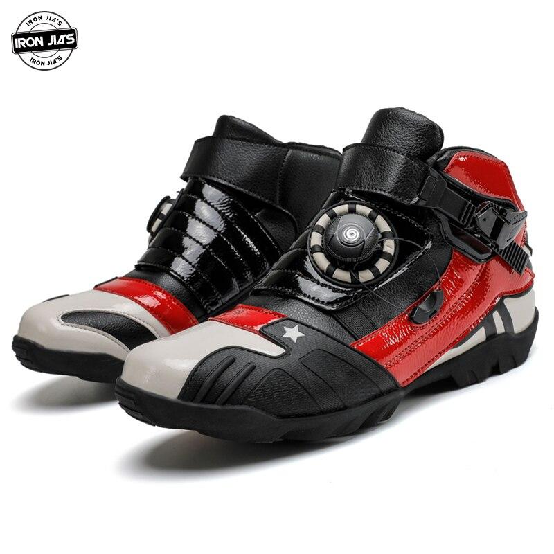 IRON JIA'S buty motocyklowe oddychające miejskie Stree Moto buty ochronne motocyklowe Motocross buty motocyklowe