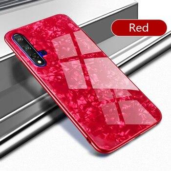 Перейти на Алиэкспресс и купить Чехол для телефона с блестящим закаленным стеклом для Huawei Nova 6, 5, 4, 3i, P30, P20, Lite Pro, Mate10, 20, 30, Honor 20, 8X, 8C, Мраморный