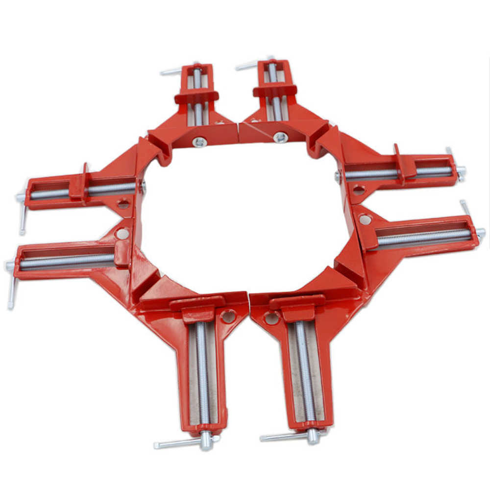 Rugged 90 Degree Right Angle Clamp DIY Corner Clamps Quick Fixed Fishtank Glass Wood Picture Frame Woodwork Right Angle