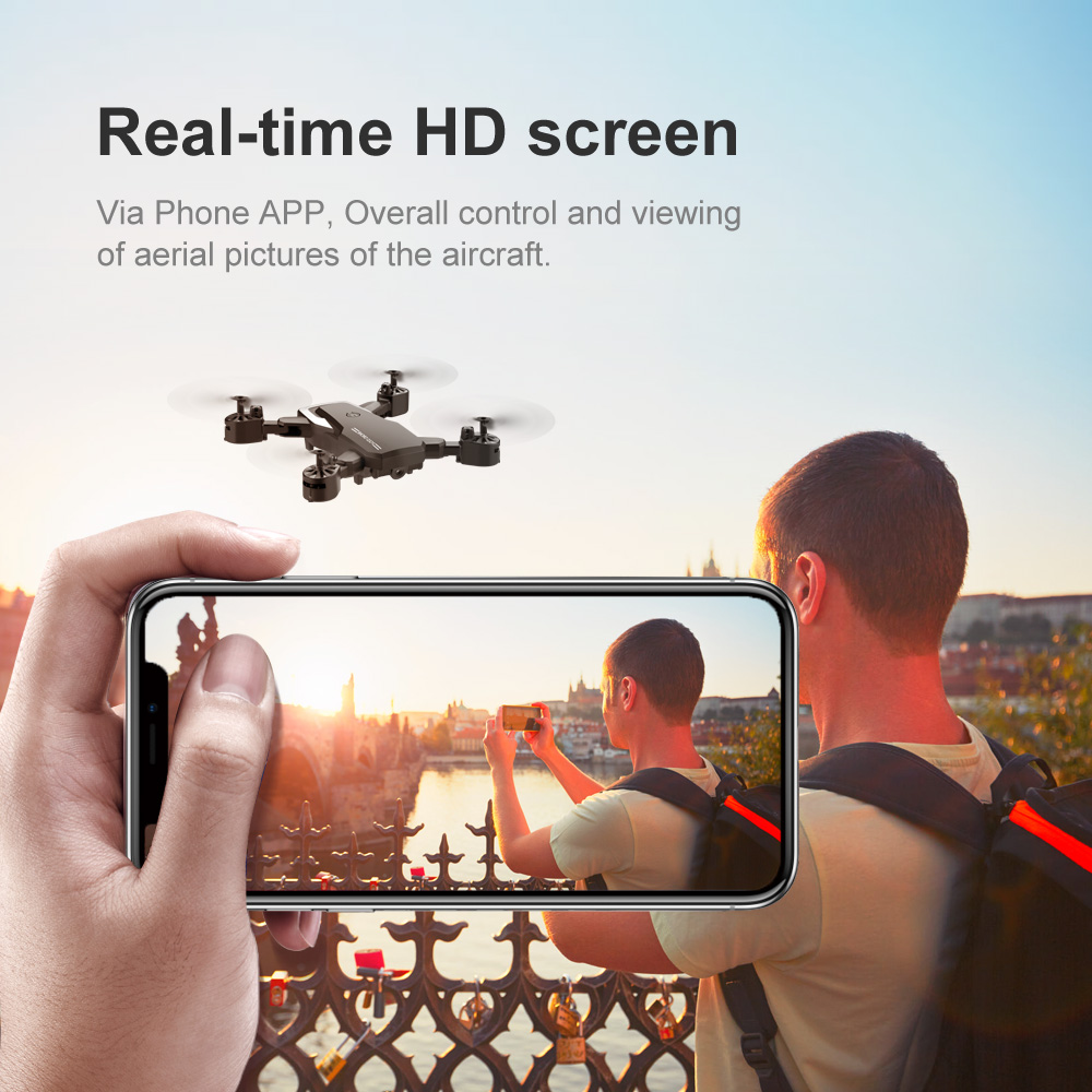 Best WiFi FPV RC Drone 4K 1080P Camera Folding Optical Flow Drone Wide-angle Real Time Aerial Helicopter Quadcopter 25 Minutes