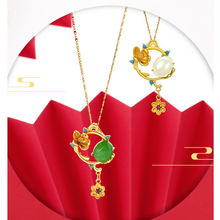 24k золотое ожерелье кулоны из нержавеющей стали для женщин