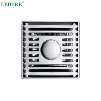 LF66002 stainless steel bathroom shower floor drain square shower floor drains shower drain shower drain cover 110mm*110mm 24 long floor drain stainless steel bathroom shower square floor waste grate sanitary pop up drain