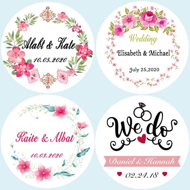 100, круговые 3-7 см, пользовательские наклейки с логотипом, свадебные наклейки, пользовательские подарочные наклейки, именные наклейки, этике...