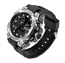 Sanda 3ATM Watches Mens Black Sports Watch LED Digital Waterproof Military S Shock Male relogios masculino