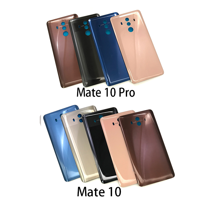 Back Glass Rear Cover For Huawei Mate 10 Pro Battery Door Housing Battery Back Cover