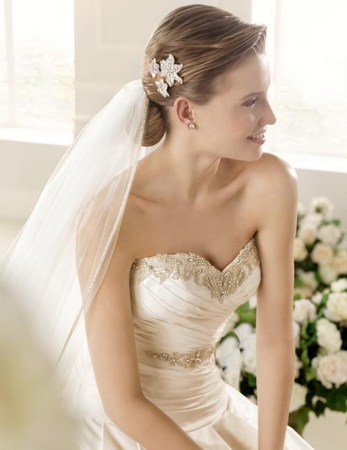 Tis 2019 Novo Elegante A- Querida Linha Contas Tafet Vestidos De Noiva Vestido De Noiva Personalizado- Feito Ec-31 Wedding Dress