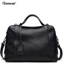 ZOOLER genuine leather bag 2016 new high end & delicate designed real boston pillow shoulder bolsa feminina#8119