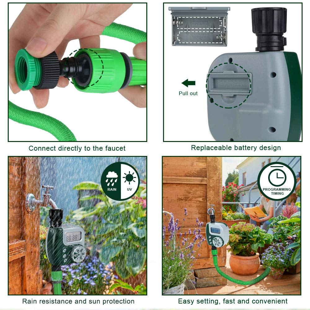 Automatic Electronic Garden Water Timers With Rotate Touch Design For Home 4