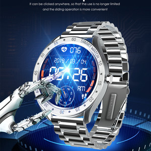 Image 2 - F13 Full Screen Touch Men Steel Smart Watch Sports Heart Rate Pedometer Fitness Tracker Waterproof IP68