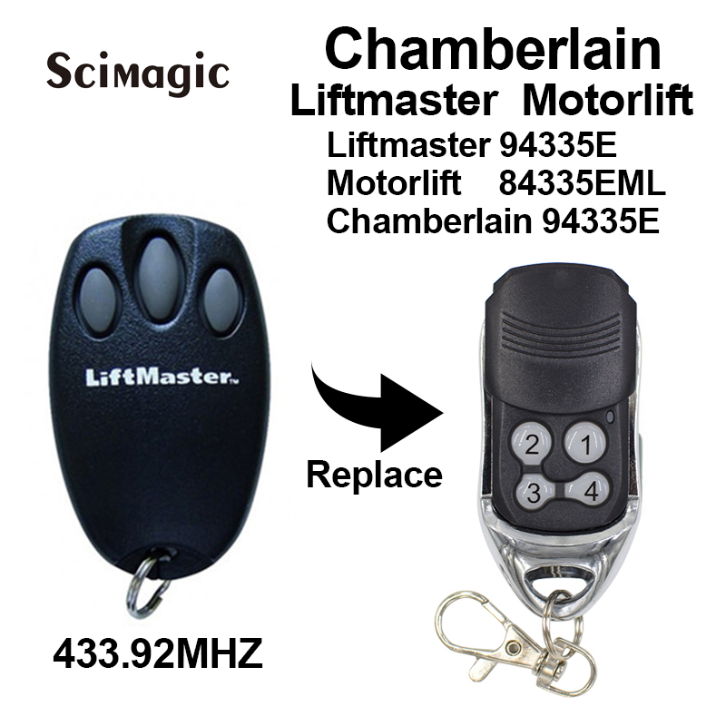 Chamberlain <font><b>liftmaster</b></font> <font><b>94335e</b></font> replacement garage door remote control Rolling code 433.92MHZ free shipping image