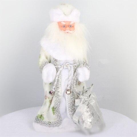 16 polegada russo musical papai noel boneca 40cm neve maiden boneca falando brinquedos led decoracoes