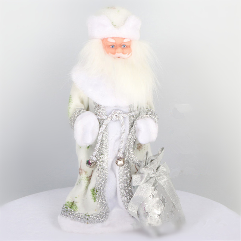 16inch Russian Musical Santa Claus Doll 40cm Snow Maiden Doll Talking Toys Led Christmas Toys Decorations Ded Moroz Newyear Gift