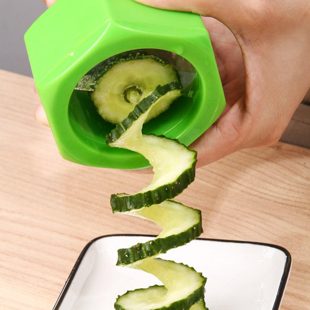 Kitchen Vegetable Fruit Slicer Potato Cucumber Spiral Grater Cutter Random Creative Slicing Tools Multi function Vegetable Tool|Manual Slicers| - AliExpress