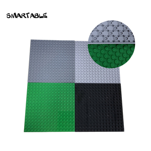 Smartable Baseplate 16x16 Double Sided Building Blocks Base Plate Part Toy For Kids Educational City Christmas Gift 5pcs/lot