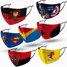 Child Mask Props Marvel Hulk Cosplay Captain-America Superman Disney Iron Birthday-Gift