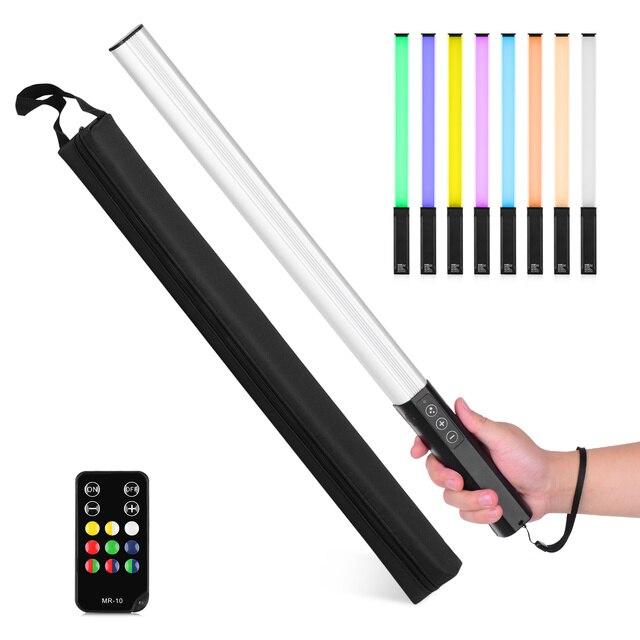 Bâton de lumière de photographie de lumière LED tenu dans la main de rvb 1000 Lumens 3200-5600K sac portatif de température de couleur accrochant la télécommande de boucle