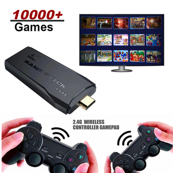 Video Game Console 64G Built-in 10000 Games Retro handheld Game Console With Wireless Controller Video Games Stick For PS1/GBA 1