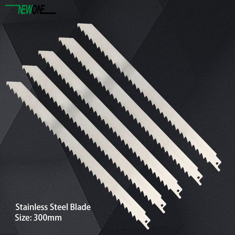 Image 3 - 300mm Stainless Steel Blade for jig saw reciprocating saw power tool accessories saw blades for frozen meat and bone cutting-in Saw Blades from Tools