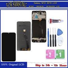 Do Samsung Galaxy M10 2019 LCD SM-M105FN/DS M105F/DS M105 wyświetlacz dotykowy Digitizer 100% oryginalny