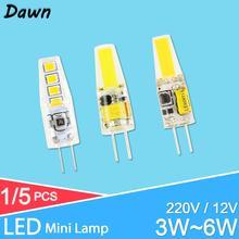 цена на GreenEye  LED G9 G4 Lamp bulb AC/DC 12V 220V 3W 6W 10W COB SMD LED G4 G9 Dimmable Lamp replace Halogen Spotlight Chandelier