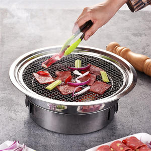 Barbecue-Grill Bbq Stainless-Steel Korean-Charcoal Portable Outdoor Camping Non-Stick