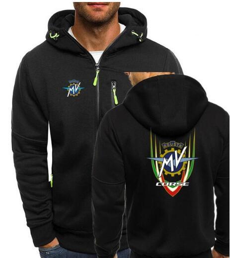 MV Agusta Corse Print Mens zipper Sweatshirt Men Hoodies Autumn Sweatshirts Hoodie Winter Hooded Tracksuit Hombrer Clothes JYF